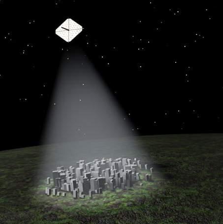 Освещение Земли из космоса - kosmos