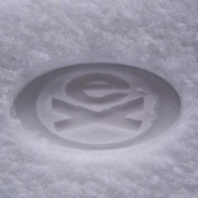 Реклама на снегу - sneg