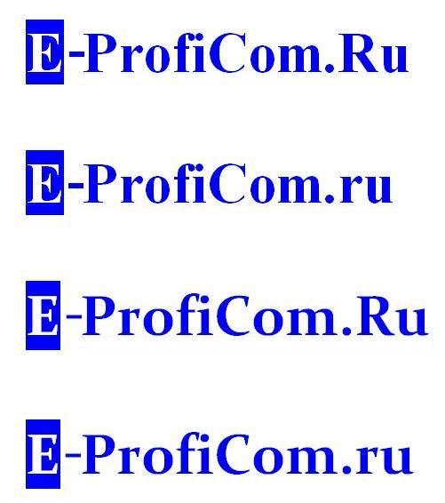 Эскиз E-ProfiCom.Ru. Двумя разными шрифтами