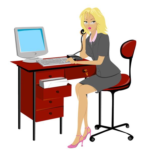 Секретарь на домашнем телефоне и специалист по закупкам - sekretar