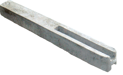 Внешний вид столба бетонного еврозабора