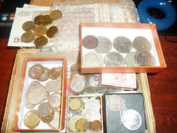 лентяям на заметку - клад в портмоне (редкие монеты) - monety