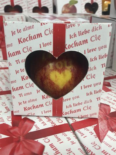Креативная идея для бизнеса в виде яблока-подарка - yabloko_i_love_you