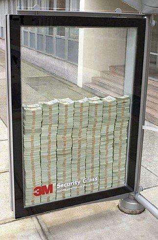 Оригинальная эффективная реклама на улице - steklo