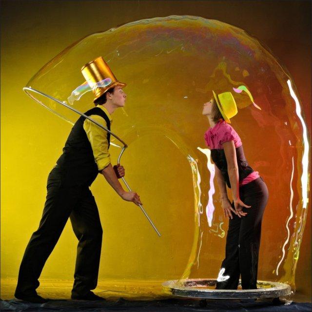 Шоу мыльных пузырей - shou