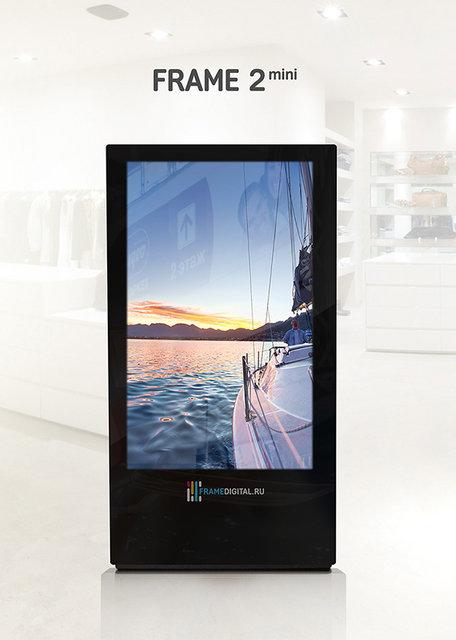 Видеопанель - быстроокупающийся бизнес на размещении рекламы - frame2mini-600
