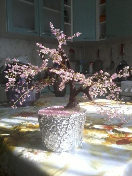 Пример работы - сакура из бисера