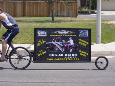 alternative advertising bike trailer